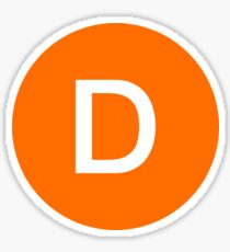 D Train Official Subway Logo Sticker