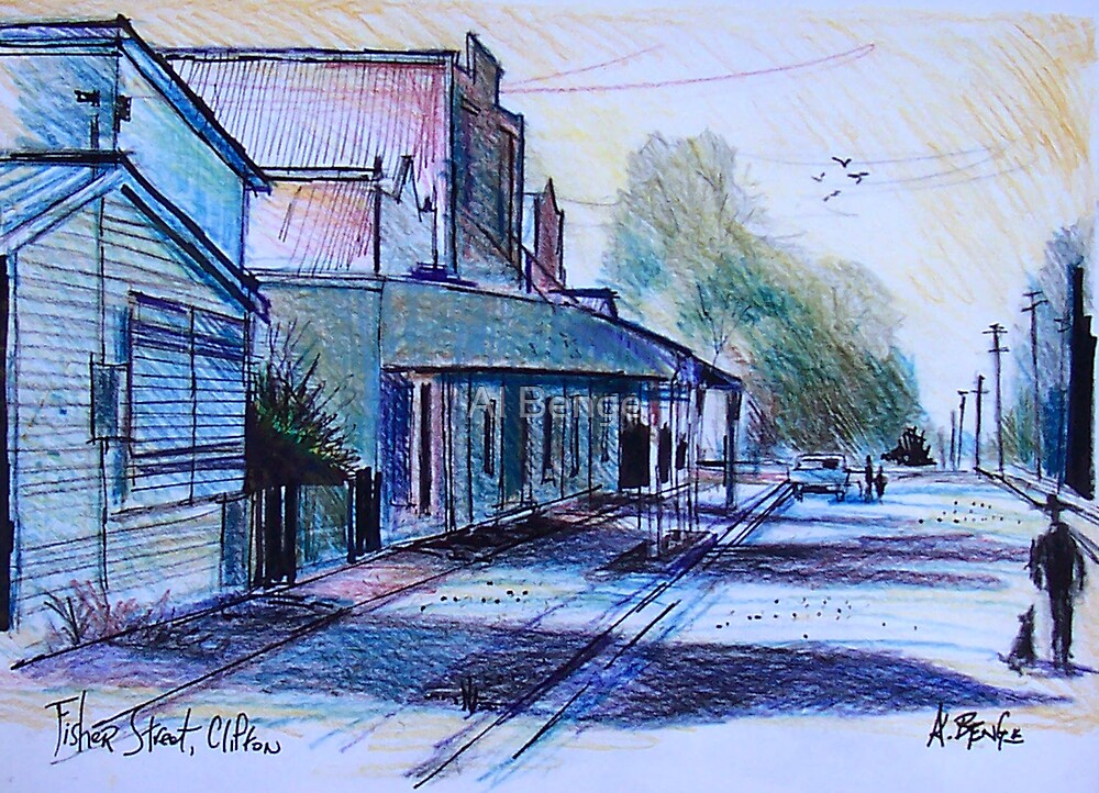 Fisher Street, Clifton Queensland by Al Benge