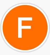 F Train Official Subway Logo Sticker