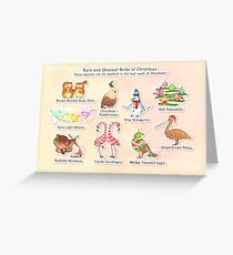 Rare and Unusual Birds of Christmas Greeting Card