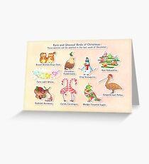 Seltene und ungewöhnliche Weihnachtsvögel Grußkarte