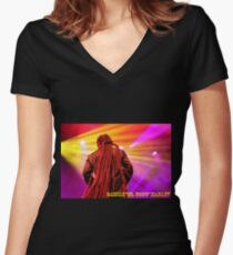 """Damian """"Jr. Gong"""" Marley 3 Women's Fitted V-Neck T-Shirt"""