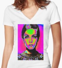 Pop Art fashion Women's Fitted V-Neck T-Shirt