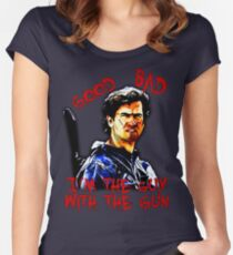 Good, bad, I'm the guy with the gun - Ash Women's Fitted Scoop T-Shirt