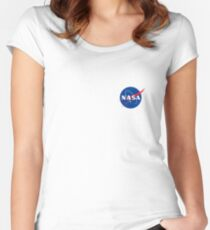 Nasa logo at the chest Women's Fitted Scoop T-Shirt