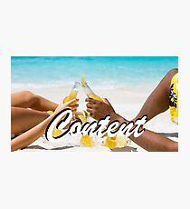 Content - Beach Photographic Print