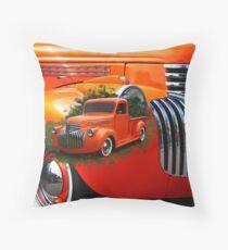 Orange Ford Pick-up Custom Throw Pillow