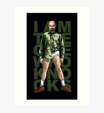 Walter Knocks Art Print