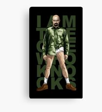 Walter Knocks Canvas Print