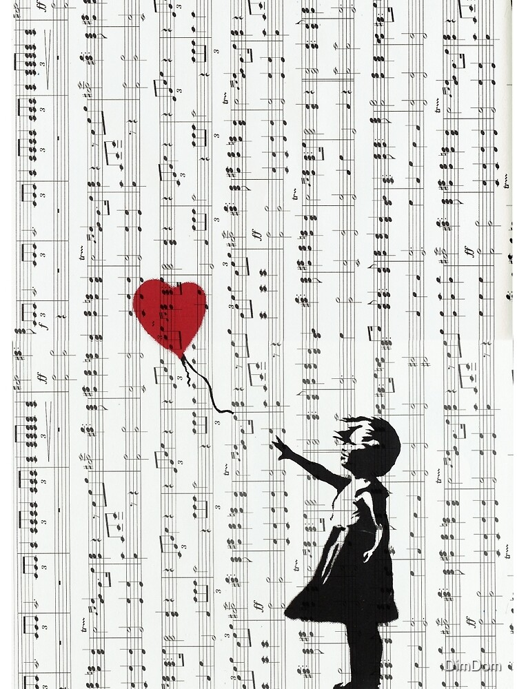 Girl With a Red Balloon by Banksy, Contemporary Street Art  by DimDom