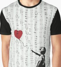 Girl With a Red Balloon by Banksy, Contemporary Street Art  Graphic T-Shirt
