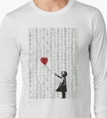Girl With a Red Balloon by Banksy, Contemporary Street Art  Long Sleeve T-Shirt