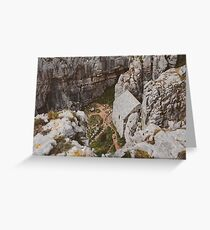A Secret View of St. Govan's Chapel by Theo Patiño Greeting Card