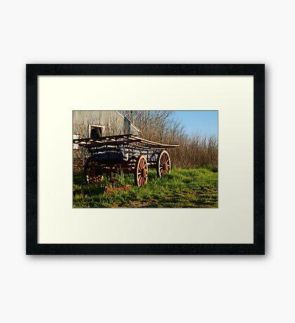 Old Cart, Ascot Victoria Framed Print