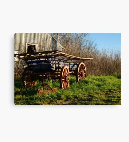 Old Cart, Ascot Victoria Canvas Print