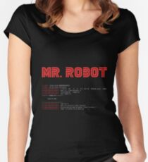 MR ROBOT fsociety00.dat Women's Fitted Scoop T-Shirt