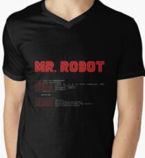 MR ROBOT fsociety00.dat Men's V-Neck T-Shirt