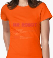 MR ROBOT fsociety00.dat Womens Fitted T-Shirt