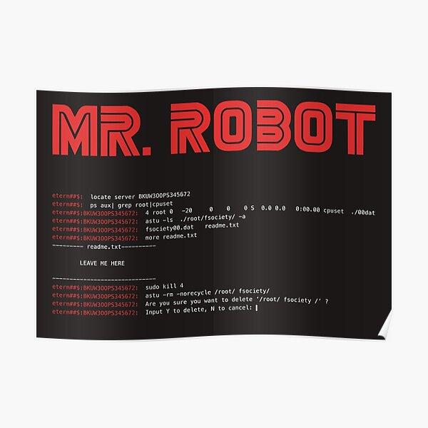 MR ROBOT fsociety00.dat Póster
