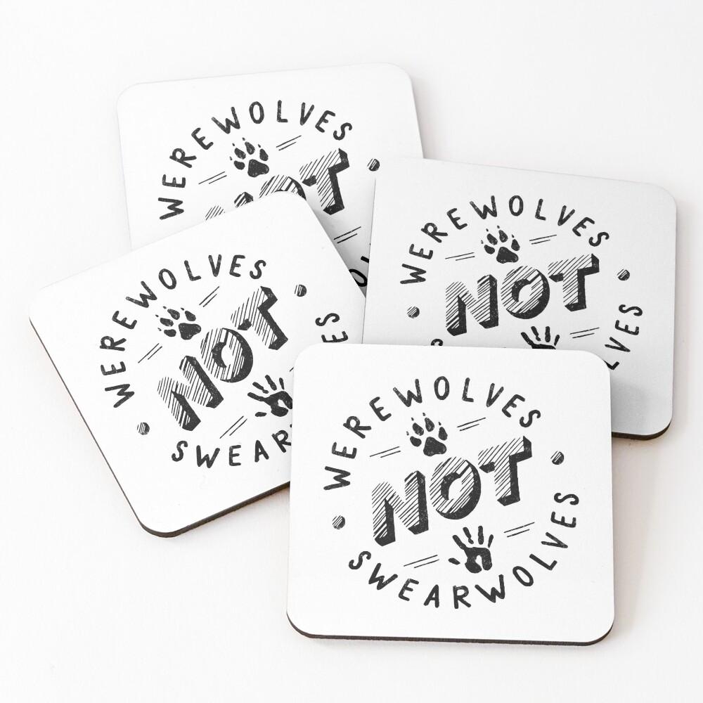 Werewolves not Swearwolves Coasters (Set of 4)