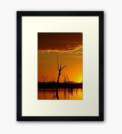 Sunrise Gold, Lake Fyans Grampians  Framed Print