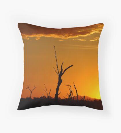 Sunrise Gold, Lake Fyans Grampians  Throw Pillow