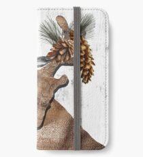 Rustic Holiday Burlap Deer iPhone Wallet/Case/Skin