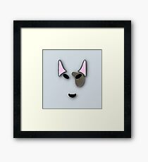 bull terrier. Framed Print
