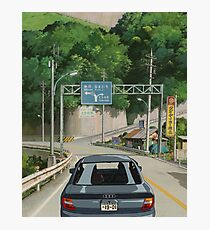 Spirited Away in an Audi Photographic Print