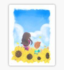 Sunflower Fields Sticker