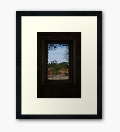 Ruin,Old Cork Station,Outback Queensland Framed Print