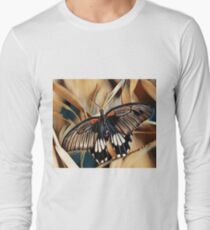 Black, White and Orange Butterfly T-Shirt