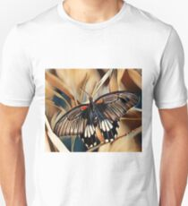 Black, White and Orange Butterfly Unisex T-Shirt