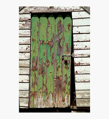Out House, Dunny Door Photographic Print