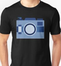 Retro Old-Time Camera, Blue Unisex T-Shirt