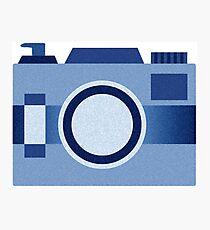 Retro Old-Time Camera, Blue Photographic Print