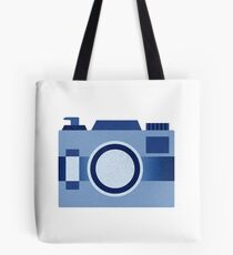 Retro Old-Time Camera, Blue Tote Bag