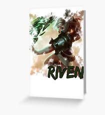 Riven Greeting Card