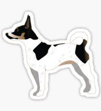 Rat Terrier Basic Dog Breed Silhouette Illustration Sticker