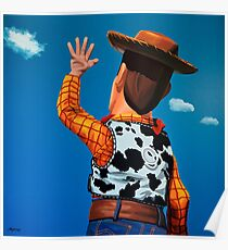 Woody of Toy Story Painting Poster