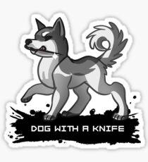 Dog With A Knife Sticker