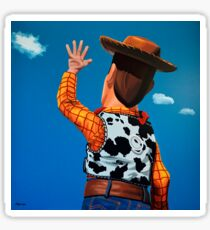 Woody of Toy Story Painting Sticker