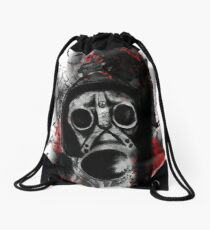 Trash polka gas mask  Drawstring Bag