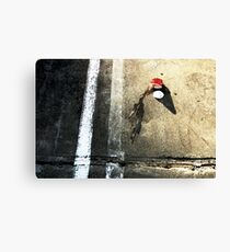 Coffee in Carpark Canvas Print