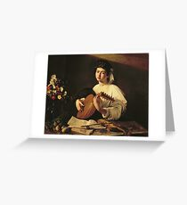 Caravaggio - The Lute Player Greeting Card