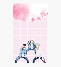 Pink cloud bts edit  Photographic Print