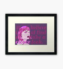 Look Closer Framed Print