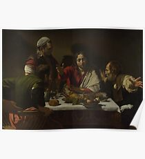 Caravaggio - The Supper At Emmaus Poster