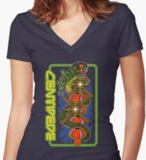 Centipede Women's Fitted V-Neck T-Shirt