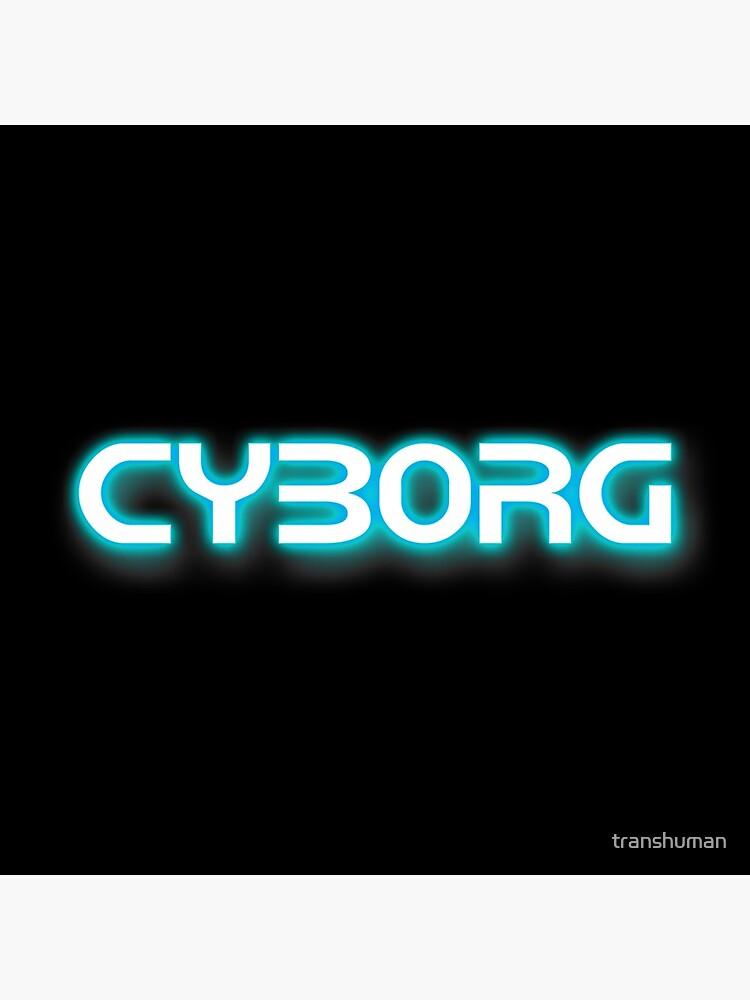 Neon Blue Cyborg by transhuman